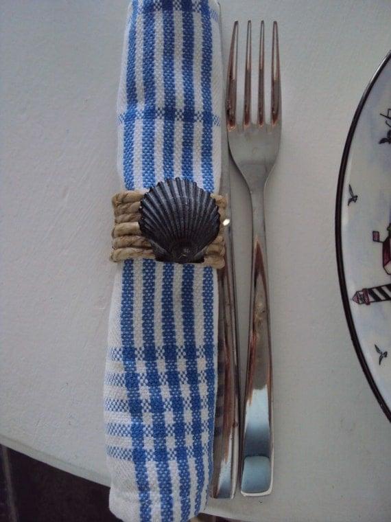 Hand designed Nautical Napkin rings set of 4