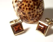 Vintage Topaz Cuff Links
