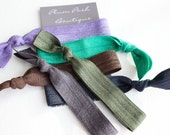 "The ""Blonde Bombshell"" Knotted Elastic Hair Ties / Bracelets - 6 pack Tailored for Beautiful Blondes in Deep Earthy Tones"