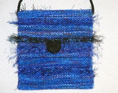 Sapphire blue Hand woven purse - mimisfunstuff