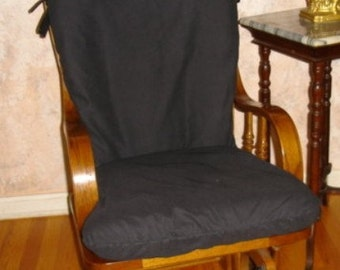 Soft Black Cotton - Glider Rocker SLIPCOVER - Other Colors Available- Family Room or Nursery