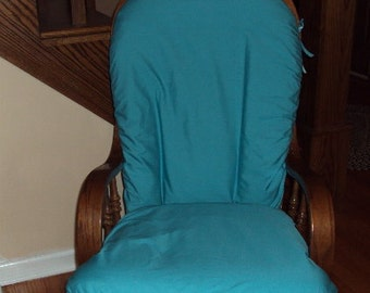Nursery Glider Rocker SlipCover - - Covers for your cushions - Many Colors - Family Room-TURQUOISE CottON