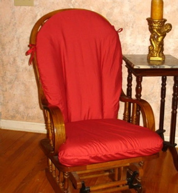 Red Glider Rocker SlipCover - Covers for your Rocking Chair cushions