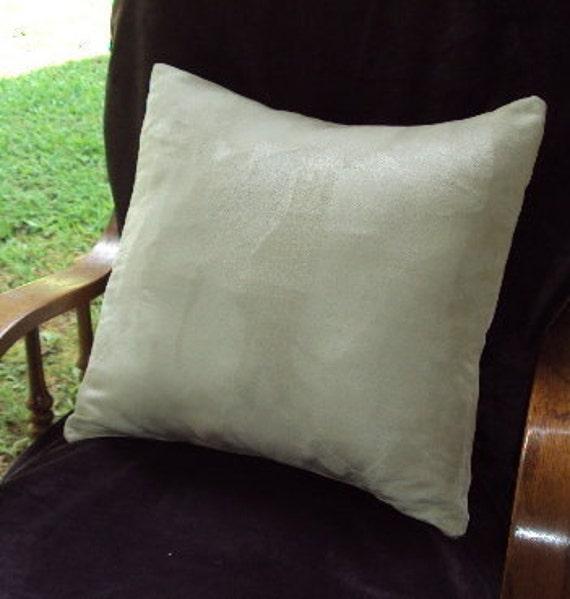 Designer Fabric- Decorative Pillow  COVER --Ultrasuede - Handmade - 16 x 16 inch