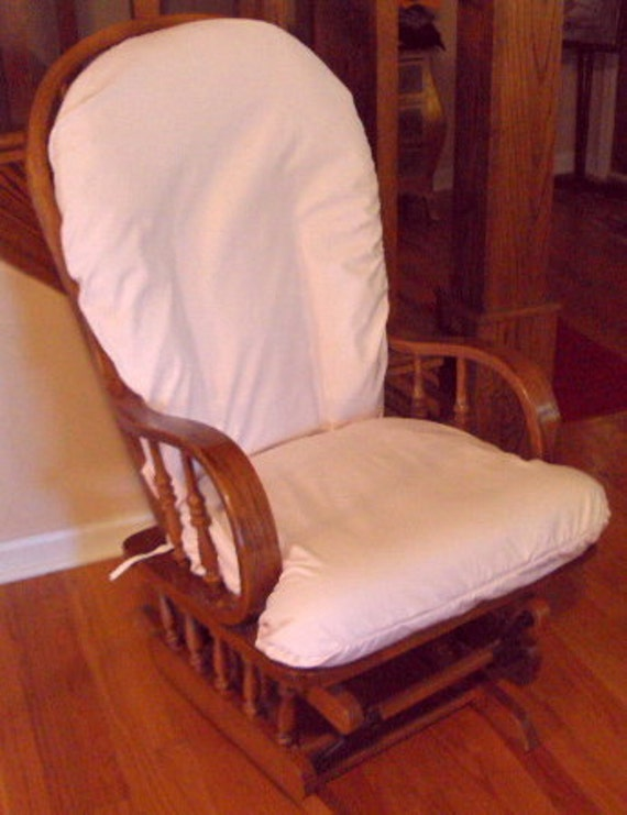 Pale Pink Baby - Cotton Glider Rocker SLIP COVER - Many Colors Available
