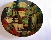 """New Orleans """"Spanish Courtyard"""" Hand Painted Souvenir Plate"""