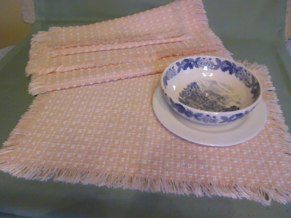 Woven Table Runner And Two Place Mats