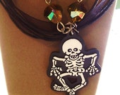 10 percent Off All items Those Bones are Dancing Necklace