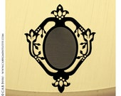 2pcs Fairy Tale Vines Cameo Settings - for 40x30mm Cameo - Laser Cut - (You select the COLOR and if you want them with Holes or No Holes)