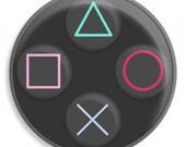 PS3 Controller Buttons 1 1/4 Pinback Button