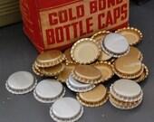 25 vintage bottle caps unused