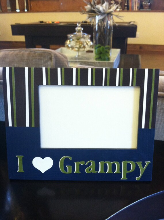 Reserved  for Kelly- Personalized Picture Frame for Grandpa or Grampy