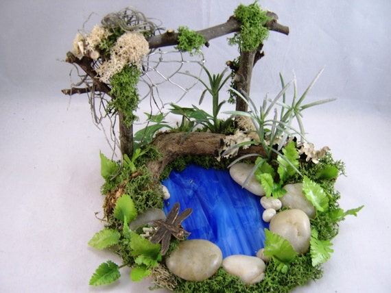 Items similar to dollhouse garden pond miniature pond for Miniature fish pond