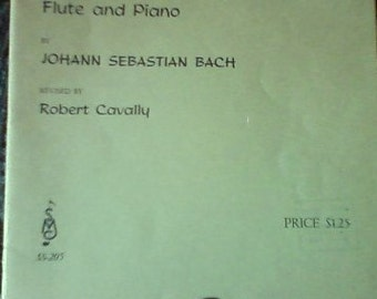 Flute music - Sonata In A Minor by J.S.Bach for flute and piano/Photo prop