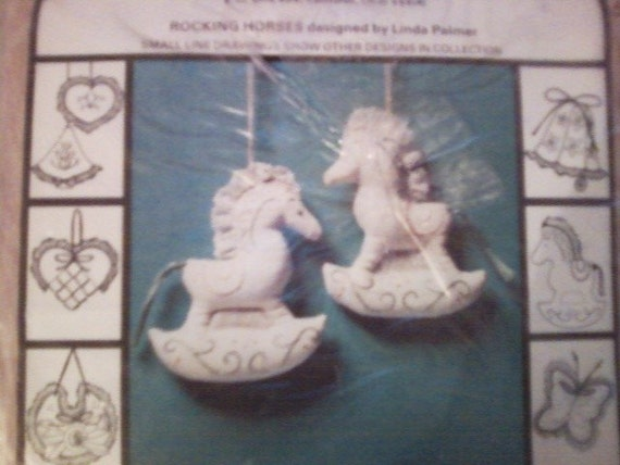 Newstalgia Designs Rocking Horse Ornaments kit 1980