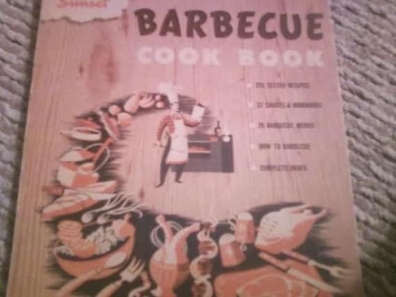 CLEARANCE Sunset BBQ Cook Book   1955 (copyright1950)