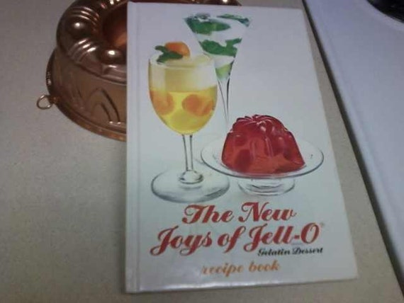 The New Joys of Jell-O recipe book  3rd edition 1975