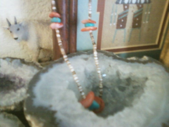 Beaded necklace from southwest US natural stones 90s