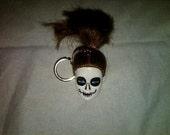 Ms. Bones Barbie Head Keychain