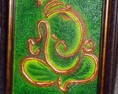Ganesha on Green