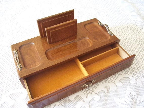 RESERVED     Vintage Men's Dresser Valet/Jewelry Box