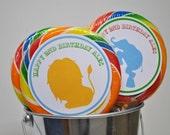 Circus Lollipop Labels