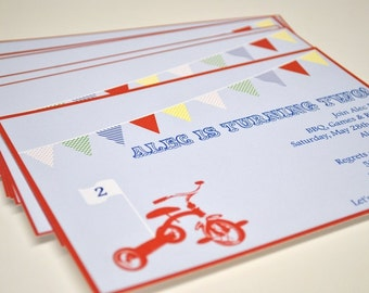 Tricycle Birthday Invitation