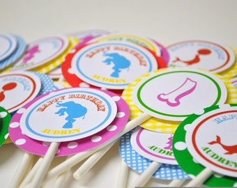 Circus Cupcake Toppers Pink Edition