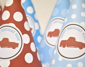 Vintage Truck Party Hats