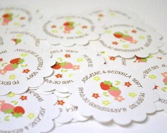 Strawberry Return Address Labels
