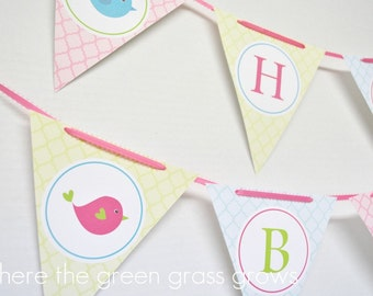 Sweet Tweets Bird Banner Bunting