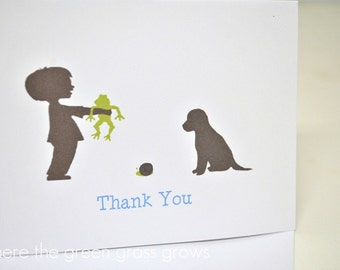 Frog Snails and Puppy Dog Tails Thank you Cards - READY TO SHIP