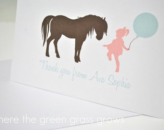 Shabby Chic Vintage Pony Thank you Cards