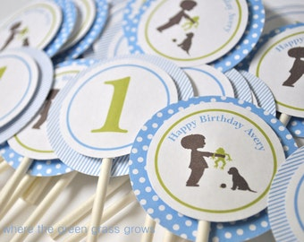 Frog Snail and Puppy Dog Tail Cupcake Toppers