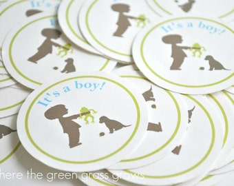 It's a Boy Sticker Labels - READY TO SHIP