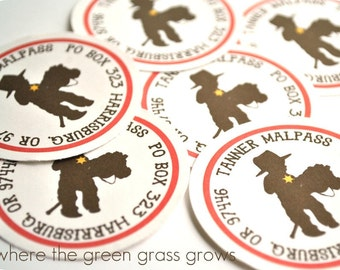 Cowboy Stickers or Return Address Labels