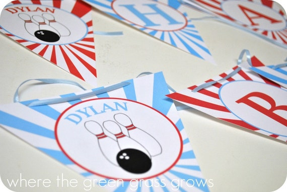 Bowling Party Banner (Bunting)