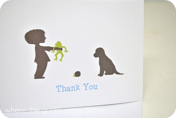 Frog Snails and Puppy Dog Tails Thank you Cards