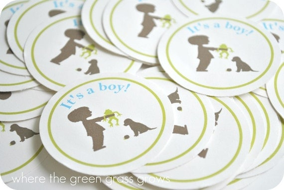 Frog Snails and Puppy Dog Tails Sticker Labels