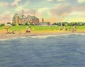 Snow Inn and Annex HARWICHPORT Cape Cod Mass Vintage Linen Postcard