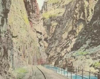 The Royal Gorge COLORADO Unused Vintage Linen Postcard