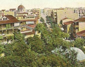 Vintage Postcard PORT SAID Place de Lesseps EGYPT Unused Vintage Postcard
