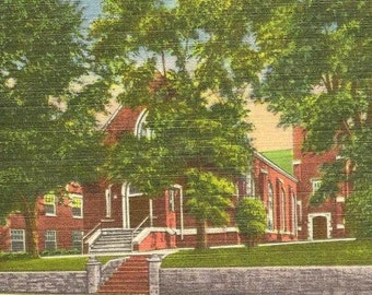 Martinsville VA Presbyterian Church Unused Vintage Linen Postcard
