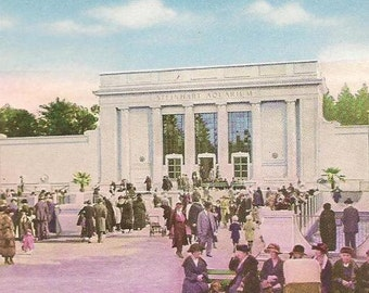 Steinhart Aquarium Golden Gate Park San Francisco on unused Vintage Postcard