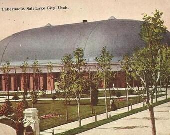 Mormon Tabernacle Salt Lake City Utah - Unused Vintage Postcard