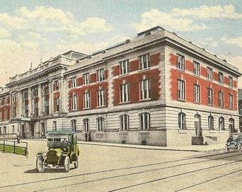 Baltimore and Ohio Depot WHEELING West Virginia Unused Vintage Postcard Train Station