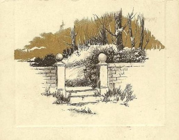 Birn Brothers Vintage Christmas Postcard 1912 Slogan Cancel - pretty garden gate