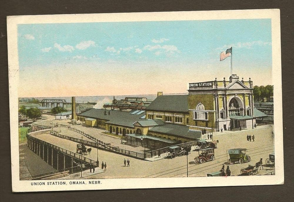 Union Station Omaha Nebraska Vintage Postcard 1925