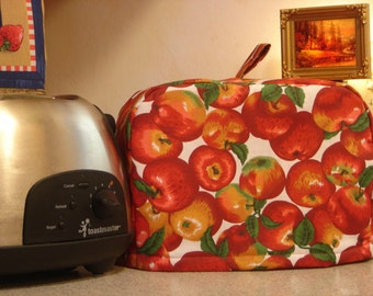 ARTI Toaster cover Red APPLES  for 2 slice Toastmaster with bagel setting