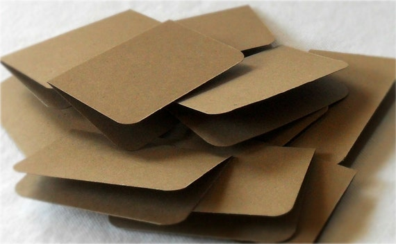 Notecards Mini, Kraft, Gift Tags, Place Cards, Plain, BLANK, Set of 100